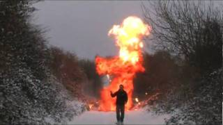 Hollywood style Fireball Explosion