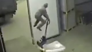 Unloading Truck Fail (Faceplant) - Launches Old Guy up in the Air
