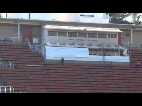 El estadio Pacaembú, donde Corinthians y Boca jugarán la final de la Copa Santander Libertadores 2012
