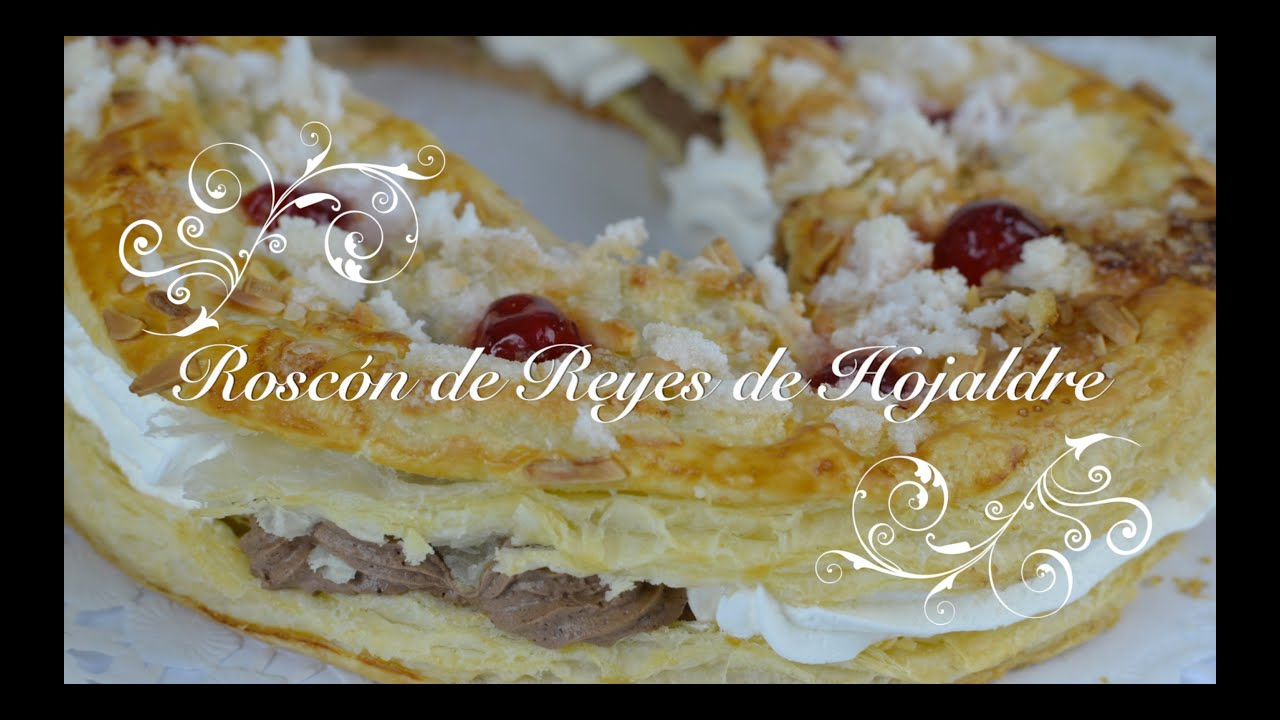 Roscon de Reyes de hojaldre | Roscon de hojaldre | Roscon de Reyes relleno de Nata y Trufa