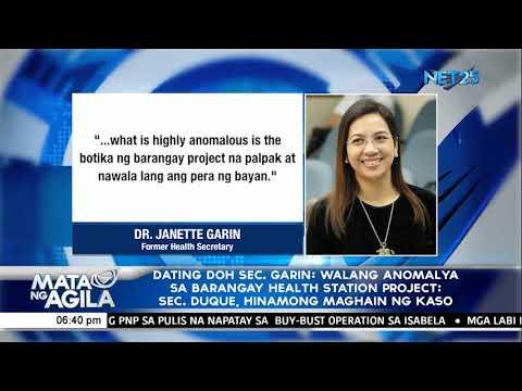 [EagleNewsPH]  Dating DOH Sec  Garin; Walang anomalya sa barangay health station project; Sec  Duque, hinamong magh
