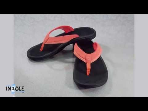 Olukai Ohana Coral & Black Sandals for Women @TheInsoleStore.com