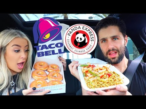Letting The Person in FRONT of Us DECIDE What We Eat ft. Josh Peck