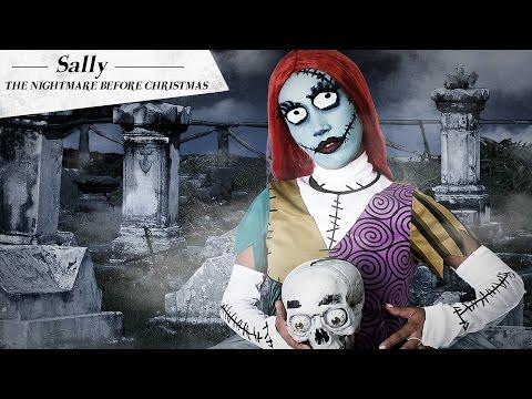 Sally aus Der Albtraum vor Weihnachten™ Make-Up Anleitung