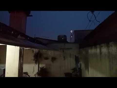 Forte descarga elétrica durante temporal em Bálsamo/SP - 27/10/2017
