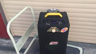 Колонка акумуляторная Temeisheng QX-1214 комбоусилитель акустика USB/FM/Bluetooth с радиомикрофонами  Реплика от компании ТехМагнит - видео