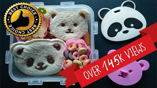 How to Make Quick and Easy Bento Box Snack Idea for Kids | Panda and Bear Bread Cutter