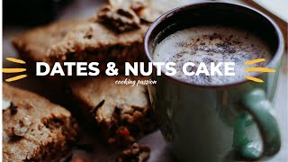 Dates And Nuts Cake Recipe|baking