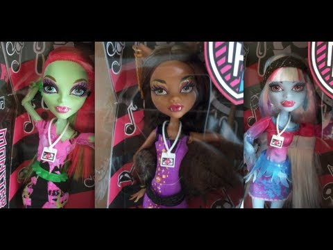 Music Festival Dolls Are Out! *Monster High Mattel Official!*