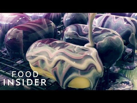 Mirror Glaze Cakes are a Sight to Behold