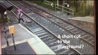 Stay off the tracks don't take a short cut to death