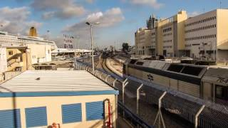 preview picture of video 'Time-Lapse Rail At Haifa Port, Israel'