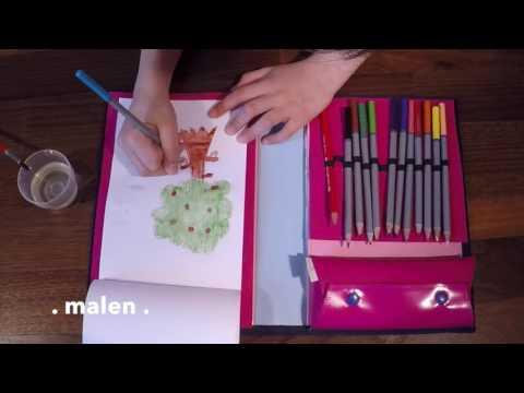 Snapkiz Starter Set - Kids Organizer mit Malset
