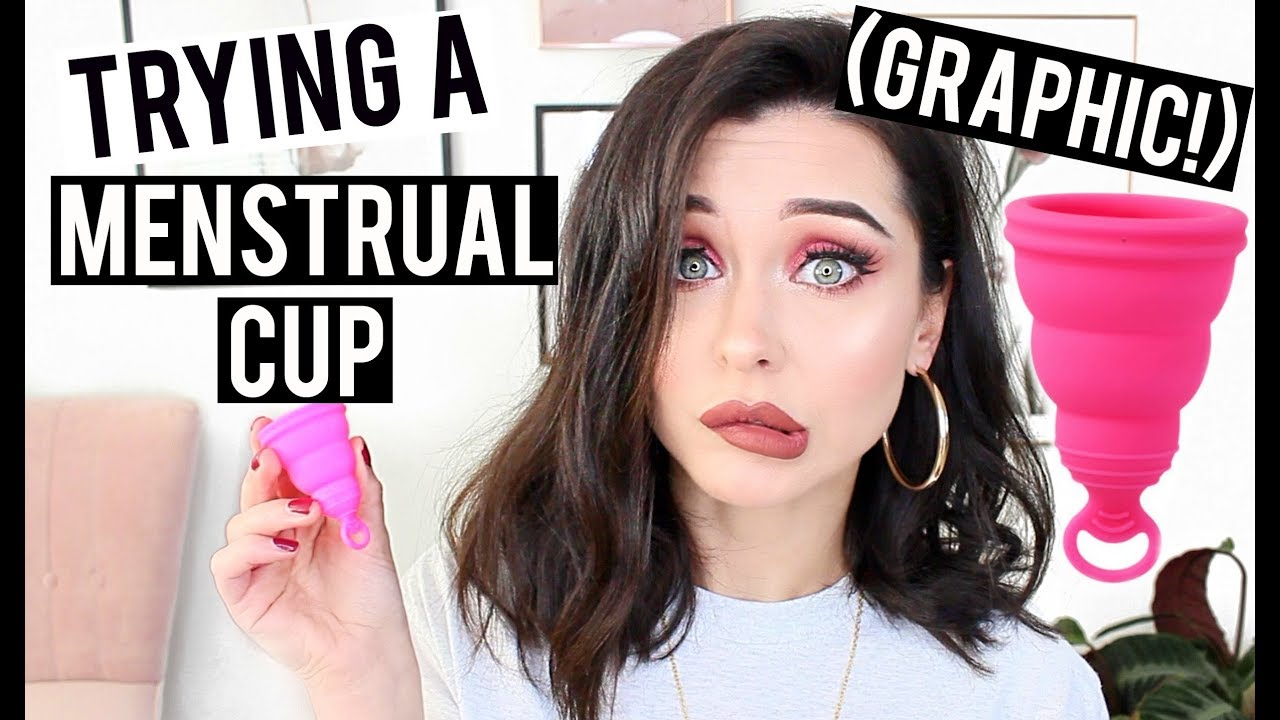 TRYING A MENSTRUAL CUP FOR THE FIRST TIME (WARNING, GRAPHIC!) | KatesBeautyStation