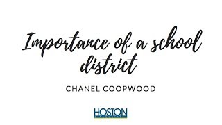 The importance of school districts