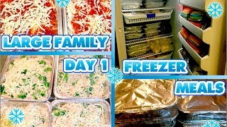 Freezer Cooking for Large Families