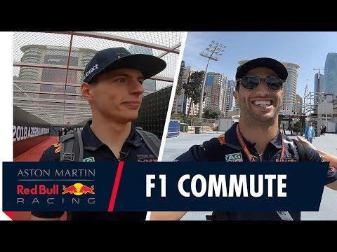 The F1 Commute! | Max Verstappen and Daniel Ricciardo's journey to the Azerbaijan Grand Prix