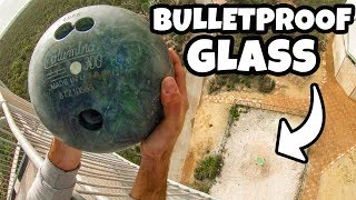 BOWLING BALL Vs. BULLETPROOF GLASS from 45m! (150 ft) - Video Youtube