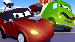 Авто Патруль -  ГРАБИТЕЛЬ В МАСКЕ украл пиццу у ПИЦЦАЙОЛО Карло! - детский мультфильм