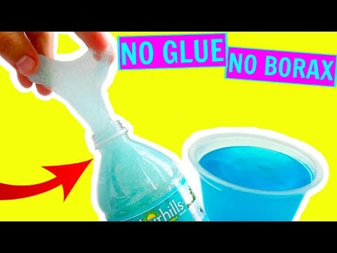 No Glue Water Slime How To Make Clear Slime Without Glue Without