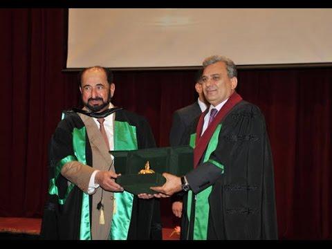 حفل منح الدكتوراه الفخرية لسمو الشيخ الدكتور سلطان بن محمد القاسمي - الجرء الاول