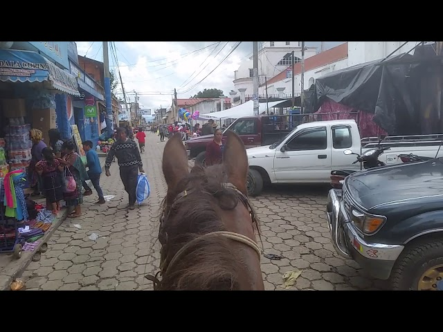 DAY 363. Riding Roxy thru Guatemalan town