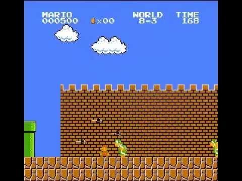 Super Mario Bros. - 600 points, no deaths (видео)