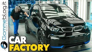 BMW i3 and BMW i3S - CAR FACTORY Final ASSEMBLY Line Manufactory
