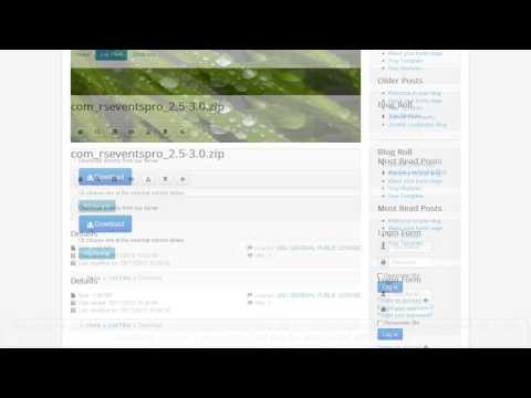 Ep. 24 - RSFiles! - Joomla! download manager - frontend overview