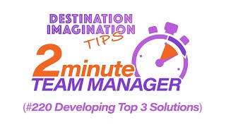 Developing top 3 DI Challenge Solution ideas