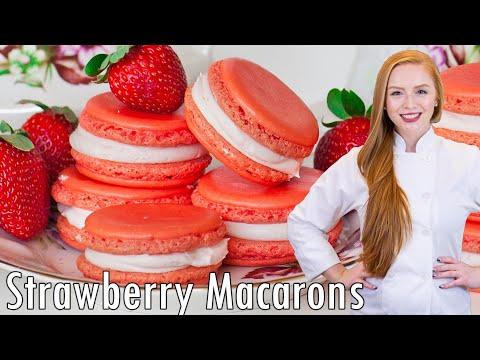 Triple Strawberry Macarons