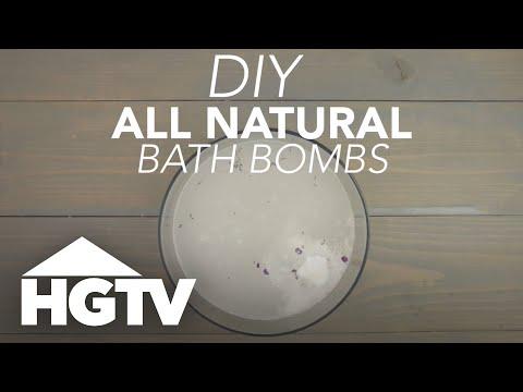 DIY All-Natural Bath Bombs - HGTV