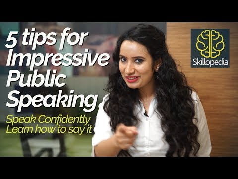 5 tips for impressive Public Speaking – Speak with confidence   Personality Development