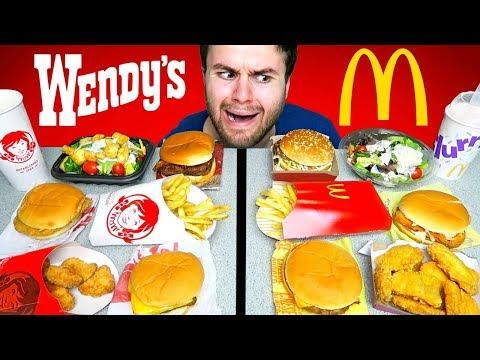 WENDY'S vs. McDONALD'S! The Whole Menu! – Fast Food Taste Test