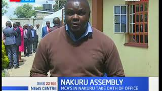 Members of Nakuru County Assembly take oath of office