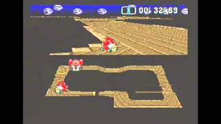 """Super Mario Kart (PAL) Time Trial : Ghost Valley 1 (GV1) - 1'01""""35 NBT (World Record)"""