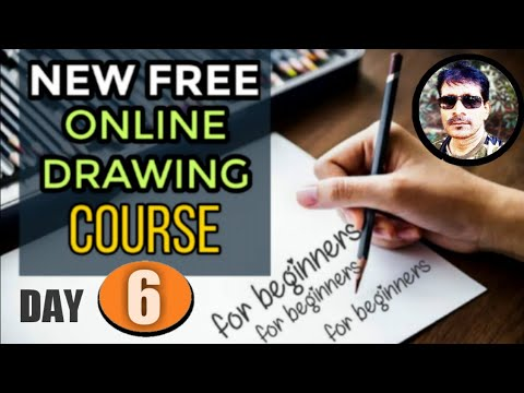 Free online drawing course for beginners day6 | drawing training in ...