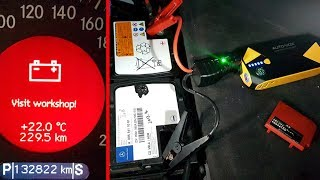 Will a Small Jump Starter (14000mAh 500A) Start a Mercedes Engine With a Faulty Battery