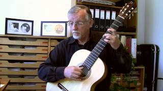 """J.S. Bach: """"Sheep may safely graze"""" (BWV 208) for classical guitar"""