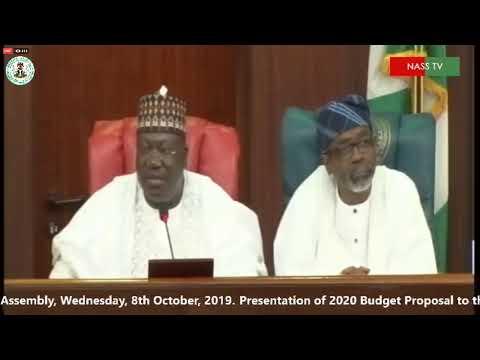 President Buhari Presents N10.33trn Finances for 2020 to NASS