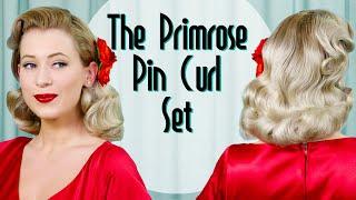 The Primrose Pin Curl Set Vintage Hairstyle