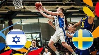 LIVE 🔴- Israel v Sweden - Round of 16 - FIBA U20 European Championship 2018