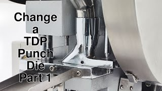 Tablet Pill Press How to change a die part 1