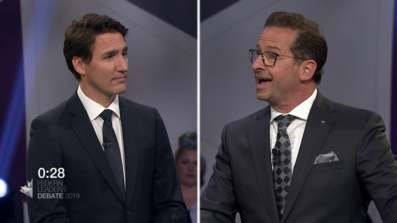 Justin Trudeau debates Yves-François Blanchet about pipelines vs. climate change