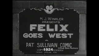 Felix The Cat Goes West - 1924 - Video Youtube