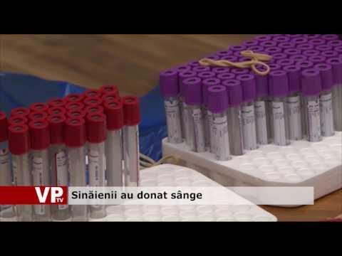 Sinăienii au donat sânge