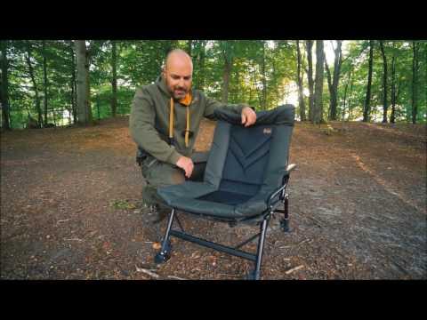 Prologic Cruzade Comfort Chair With Armrest háttámlás horgászszék videó