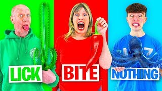 EXTREME Bite, Lick or Nothing Challenge - Win $10,000