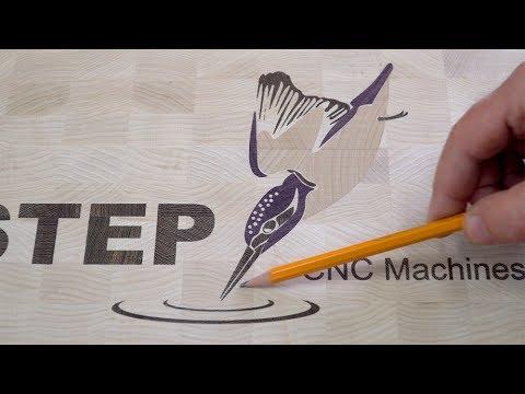 Intarsien Videotutorial: Kunde CNC fräst hochwertiges Schneidebrett aus Holz