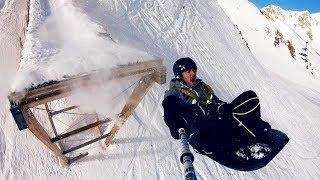 Ski Ramp Bungee Jumping!